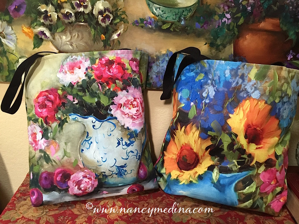Indulge in a colorful tote bag - 18X18, nice and roomy!