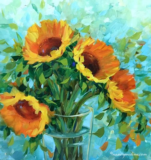 Blue Fire Sunflowers