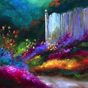 Colorful Contemplations Garden Path by Nancy Medina