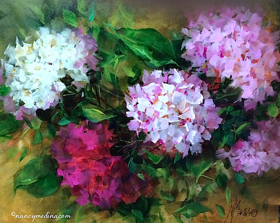 Dusted Pink Hydrangeas