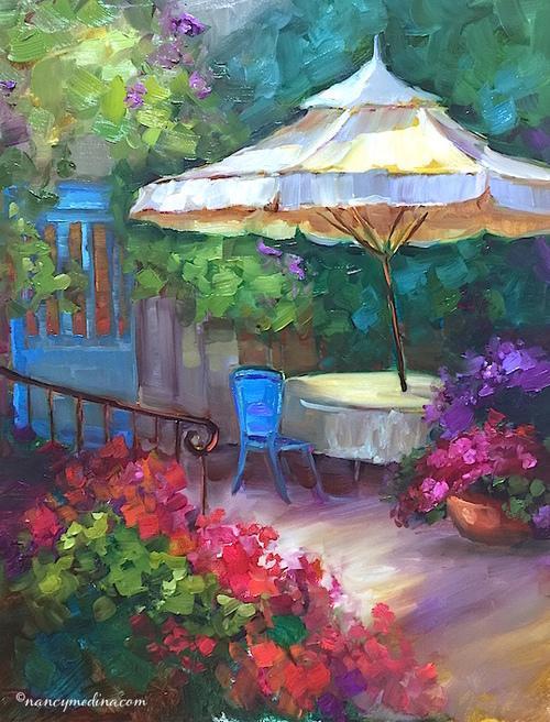 French Patio by Nancy Medina