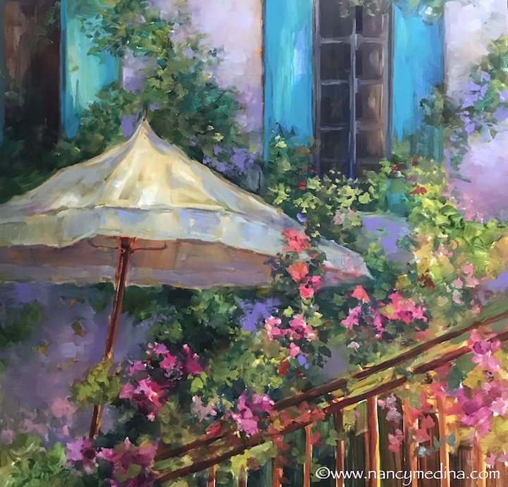 French Violet Garden Sanctuary 16X16 sm