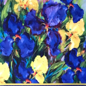 Iris Garden Flags by Nancy Medina
