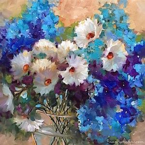 Memories Alight White Daisies by Nancy Medina