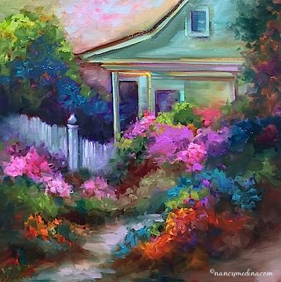 Pink Azaleas & My Great-Grandmother's Home