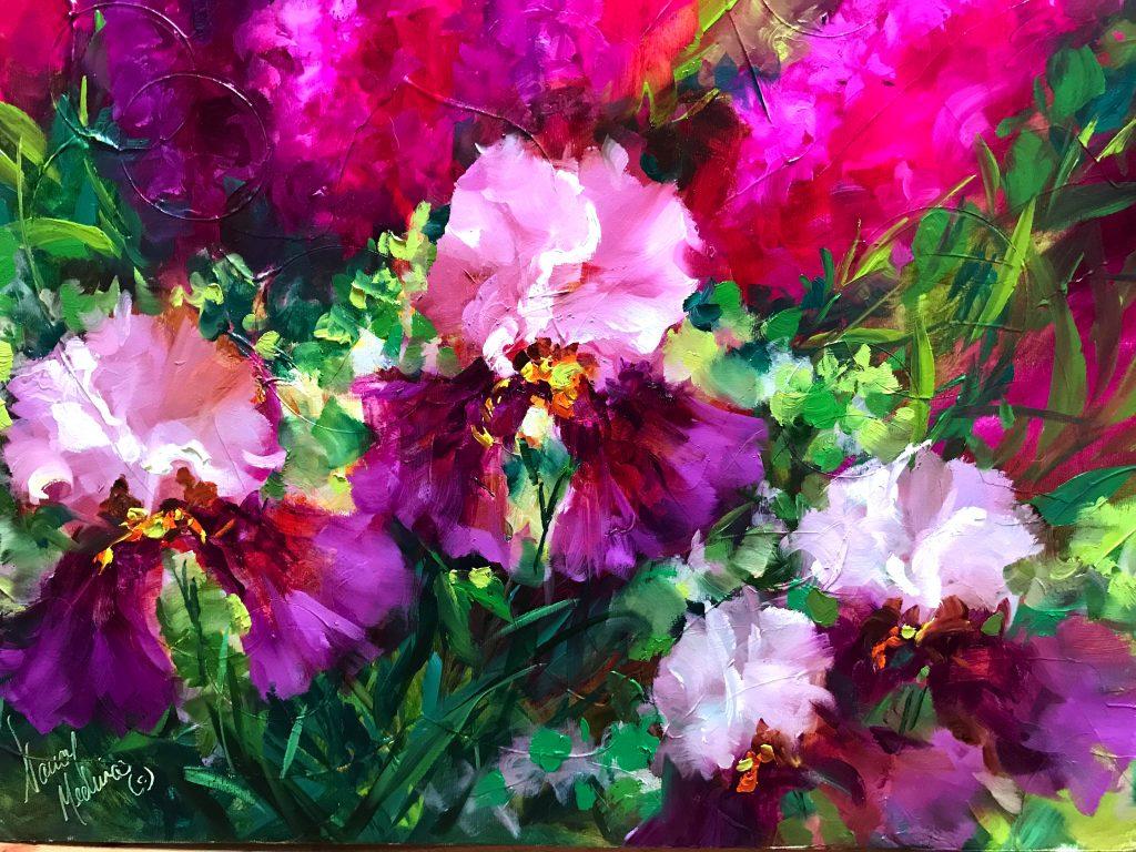 Pink Frosting Irises Nancy Medina