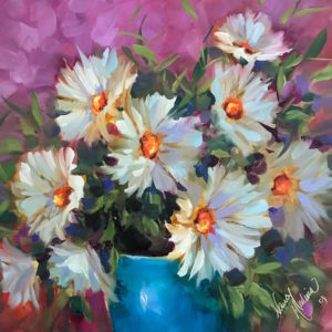 Pinkberry Wild Daisy Bouquet by Nancy Medina