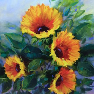 Search for Summer Sunflowers by Nancy Medina