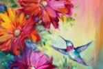 Spring Harbinger Hummingbird 16X16 sm