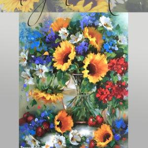 Strawberry Sunflower Bouquet - 90 minute DVD