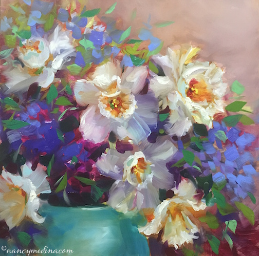 Summer Spray Daffodils by Nancy Medina