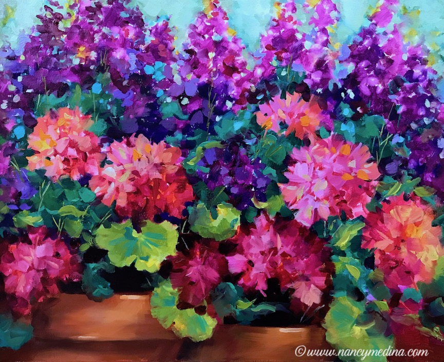 Sweet Dreams Geranium Garden, 20X16 sm