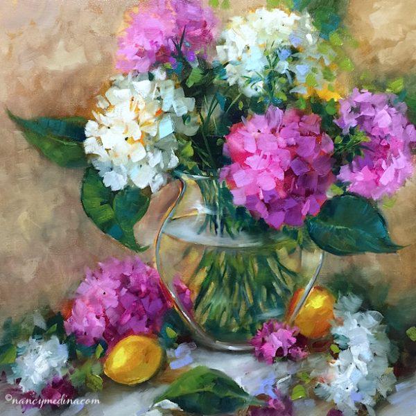 The Chosen Ones - White Hydrangeas by Nancy Medina