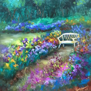 This Space Reserved - Iris Garden by Nancy Medina