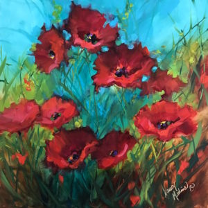Touch the Sky Red Poppies by Nancy Medina
