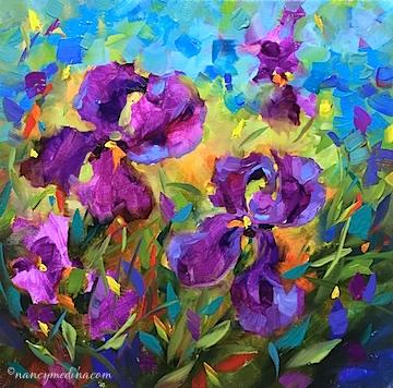 Vanishing Violet Irises