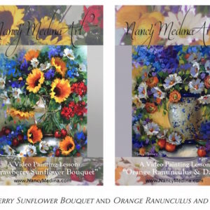 Video Bundle - Strawberry Sunflower Bouquet and Orange Ranunculus