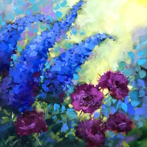 Violet Dreams Carnations by Nancy Medina