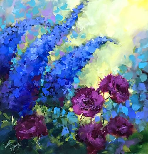 Violet Dreams Carnations by Nancy Medina