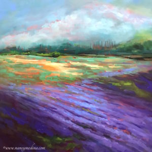 Violet Dusk Lavender by Nancy Medina