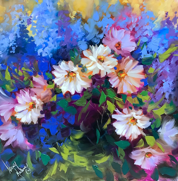 Winter Sunshine Daisies by Nancy Medina