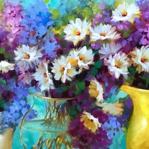 Daisy Delphinium Panoply Nancy Medina