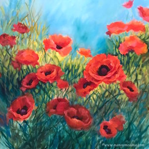 my love red poppies nancy medina