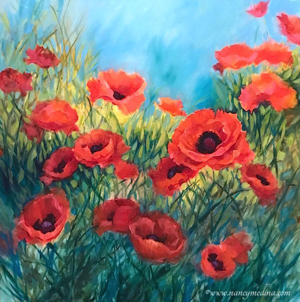 my love red poppies nancy medina