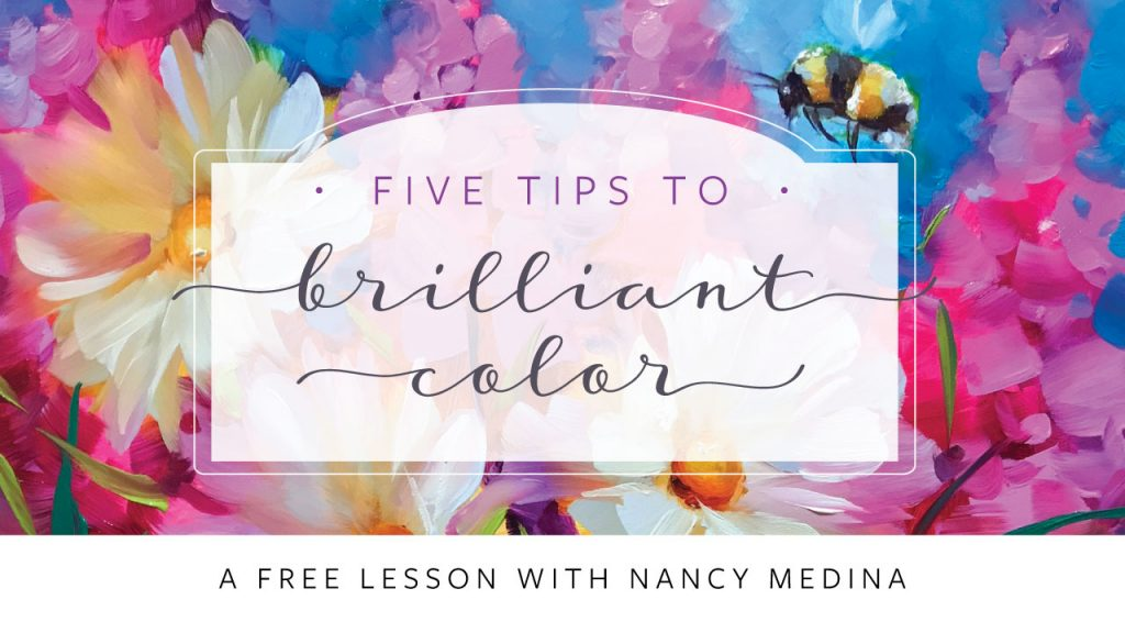 Free mini lesson Nancy Medina Art