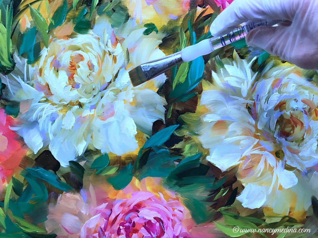 Cooling off warm peonies - Nancy Medina Art