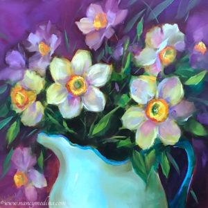Playful Presence Daffodils Nancy Medina