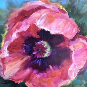 Pink Ice Italian Poppy by Nancy Medina