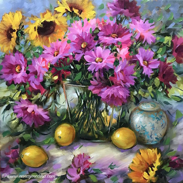 C'est la Vie Daisies Nancy Medina Art