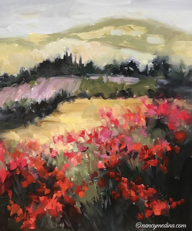 Lavender Rain Italian Fields