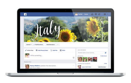 Private Paint Italy eCourse Facebook Group