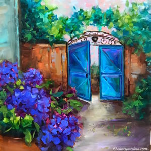 Blue Vieux French Gates by Nancy Medina
