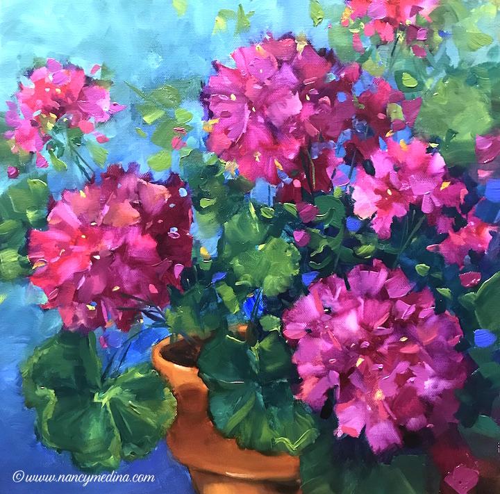 Pink frosting geraniums mightylinksfo