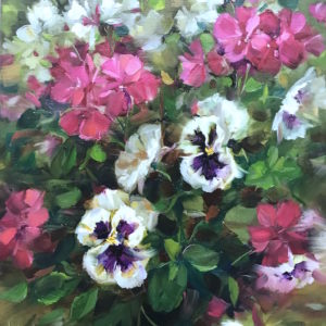 Ablaze Pansies and Geraniums