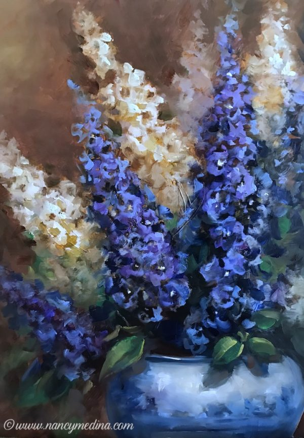 New Growth Delphiniums