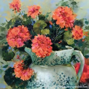 Peachy Joy Geraniums