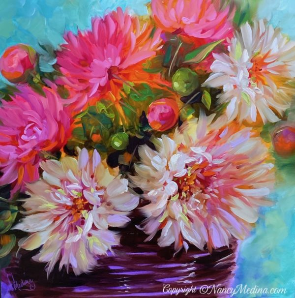 TJB copyright Parisian Treasures Dahlias