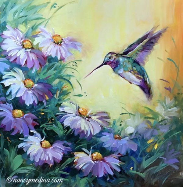 Morning Visitor Hummingbird