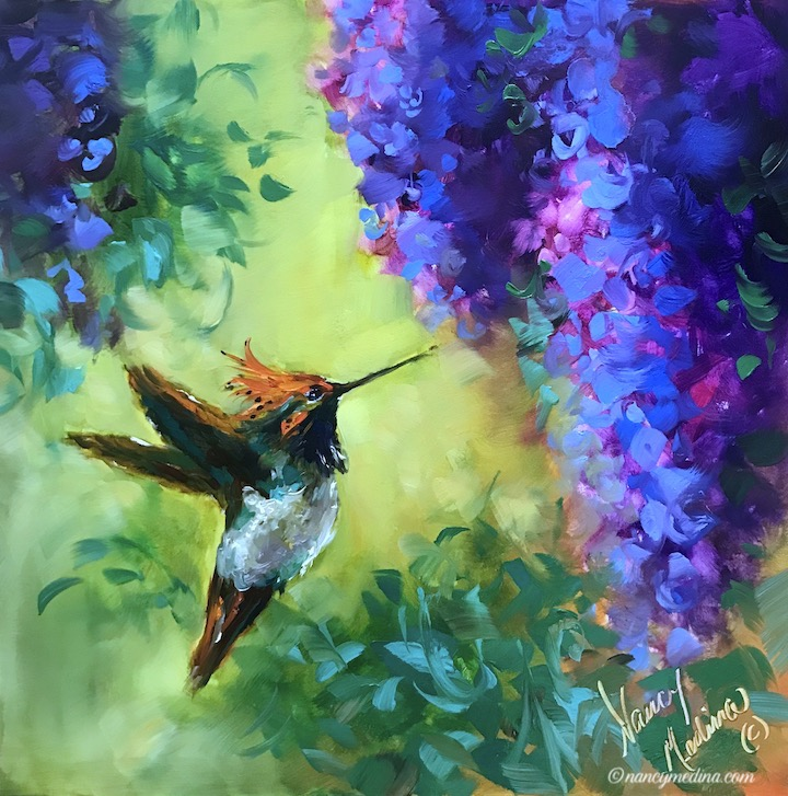 Nectar Nymph Hummingbird 12X12 sm