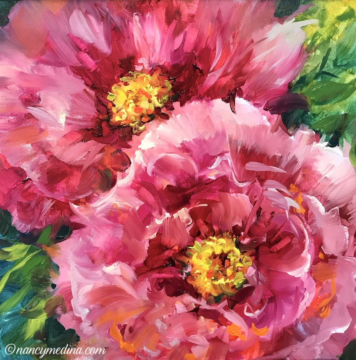 Pink Splash Peonies