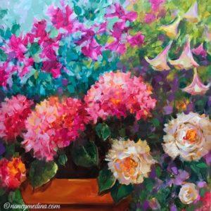 Pink Spring Flower Garden