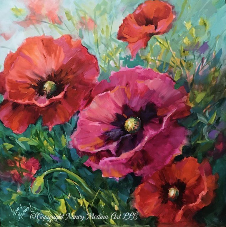 TJB Better Together Poppy painting image