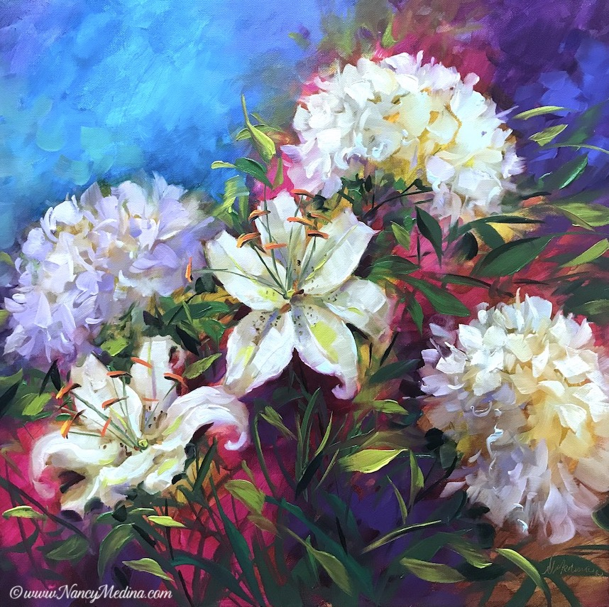Boundless Dreams Lily and Hydrangea Garden