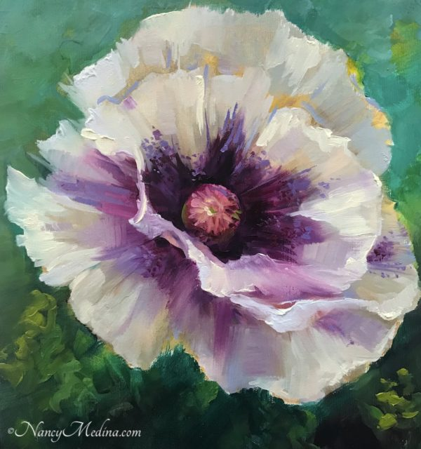 On the Breeze White Poppy