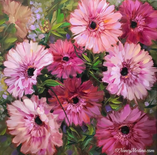 Pieces of Heaven Pink Daisies