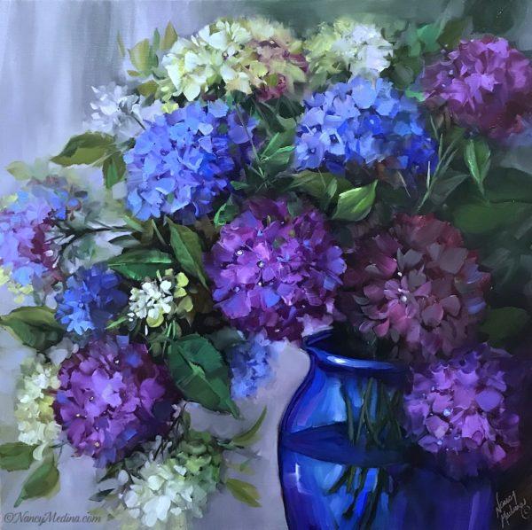 Purple Cascade Hydrangeas